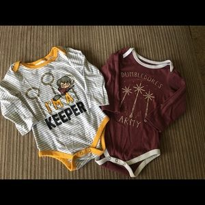 Set of two Harry Potter themed onesies